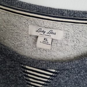 lucky lotus Sweaters - Lucky Lotus California pullover blue sweater